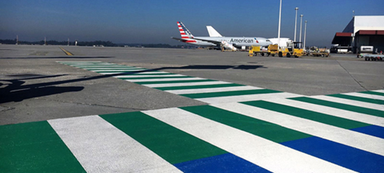 Airport markings with PlastiRoute® RollPlast and PREMARK®